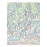 En el bosque de Fontainebleau de Paul Cézanne Membrete