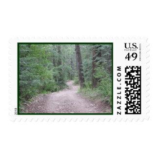 En el bosque timbres postales