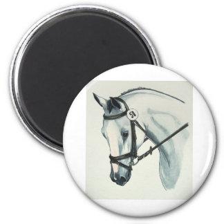 En el caballo BLANCO del Dressage del contacto Imán Redondo 5 Cm