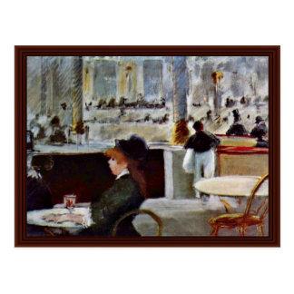 En el Café de Manet Eduardo Tarjetas Postales