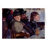En el café: Del cabaret Reichshoffen - Manet Felicitacion