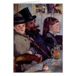 En el café: Del cabaret Reichshoffen - Manet Tarjetón