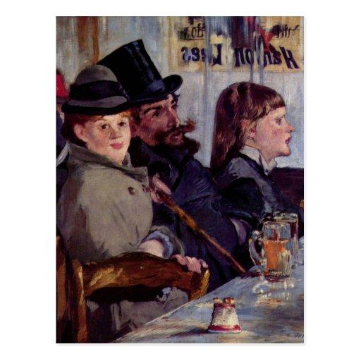 En el café: Del cabaret Reichshoffen - Manet Postal