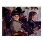 En el café: Del cabaret Reichshoffen - Manet Tarjeta Postal