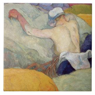 En el calor, o los cerdos, 1888 azulejo cuadrado grande