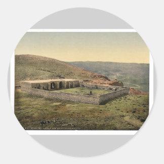 En el camino a Jericó, Khan-EL-Ahmar, Tierra Pegatina Redonda