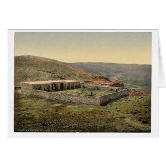 En el camino a Jericó, Khan-EL-Ahmar, Tierra Santa Tarjeton