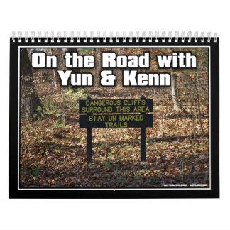 En el camino con el YUN y Kenn Calendario De Pared