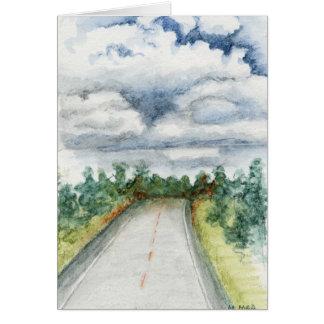 En el camino otra vez tarjeta de felicitación