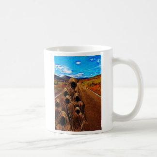 En el camino taza de café