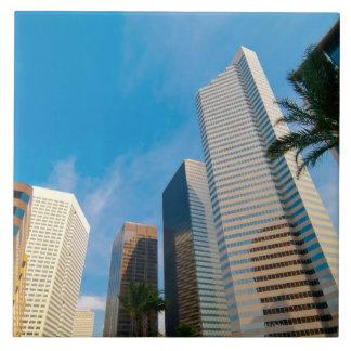 en el centro de la ciudad altos edificios de la su azulejos