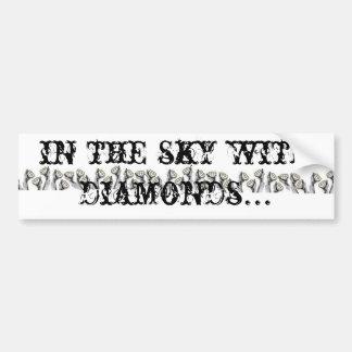 en el cielo con los diamantes pegatina de parachoque