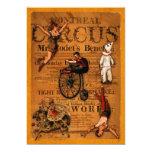 En el circo invitación 12,7 x 17,8 cm