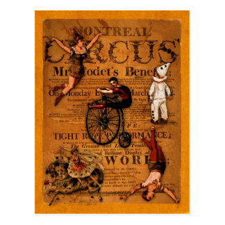 En el circo postales