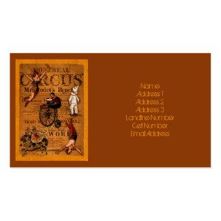 En el circo tarjetas de visita