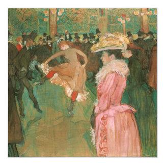 En el colorete: La danza por Toulouse-Lautrec Invitación 13,3 Cm X 13,3cm