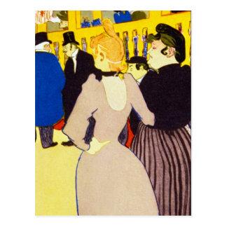 En el colorete por Toulouse-Lautrec Postal