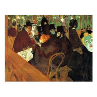 En el colorete por Toulouse-Lautrec Tarjeta Postal