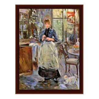 En el comedor de Morisot Berthe Postal