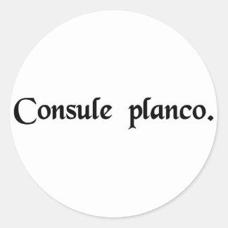 En el consulado de Plancus Pegatina Redonda