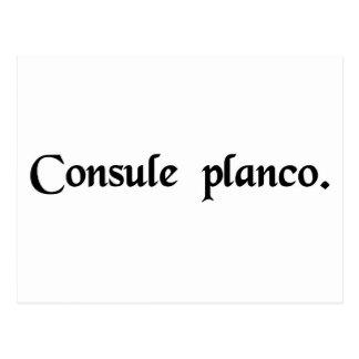 En el consulado de Plancus Tarjetas Postales
