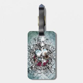 En el cráneo del paisaje del espejo etiquetas de equipaje