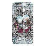 En el cráneo del paisaje del espejo funda de iPhone 6 barely there