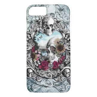 En el cráneo del paisaje del espejo funda iPhone 7