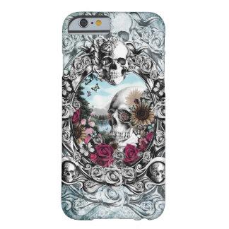 En el cráneo del paisaje del espejo funda para iPhone 6 barely there
