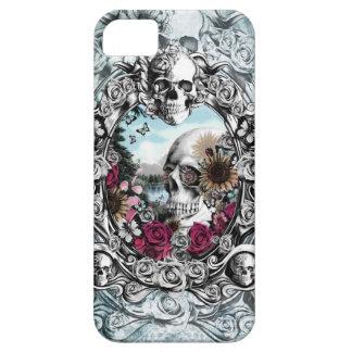 En el cráneo del paisaje del espejo iPhone 5 funda