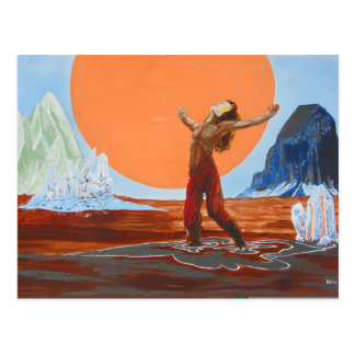En el desierto gritador tarjetas postales