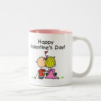 En el día de San Valentín feliz del amor Tazas