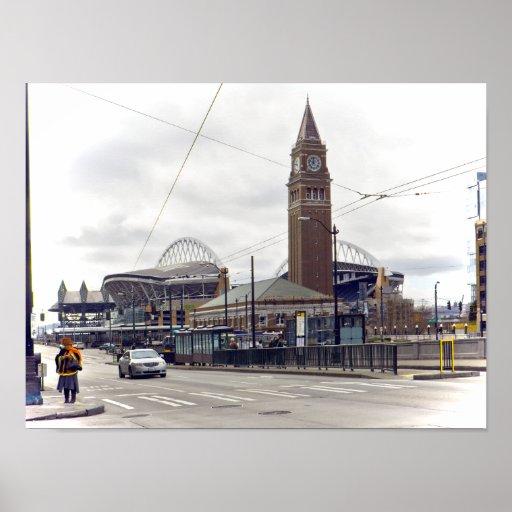 En el distrito internacional -- Seattle WA Poster