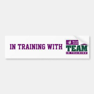 En el entrenamiento con TNT Etiqueta De Parachoque