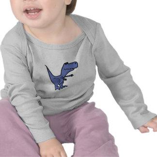 EN el equipo divertido del bebé del dinosaurio de Camiseta