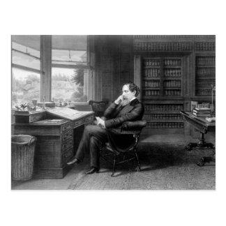 En el estudio de Charles Dickens Postales