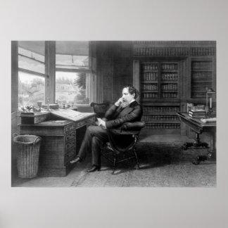 En el estudio de Charles Dickens Póster