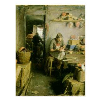 En el estudio de la máscara, 1897 postal