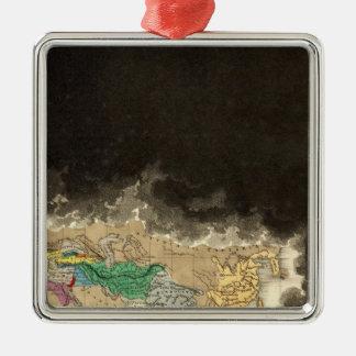 En el final de la tercera guerra púnica 146 A.C. Adorno Navideño Cuadrado De Metal