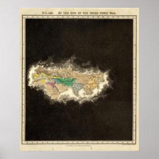 En el final de la tercera guerra púnica 146 A.C. Póster