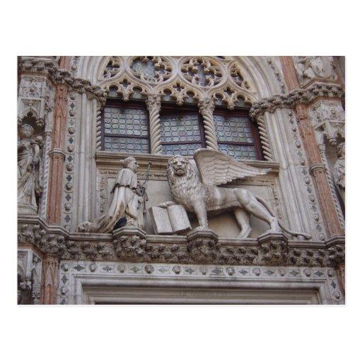 En el frente de los duxes palacio, Squar de St Mar Tarjeta Postal