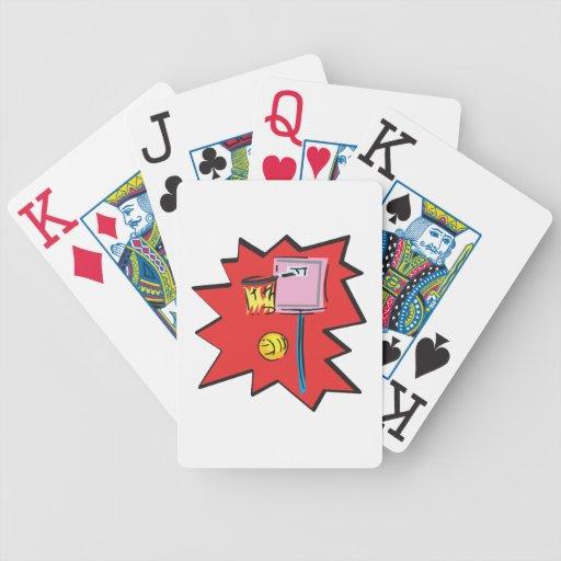 En el fuego baraja de cartas
