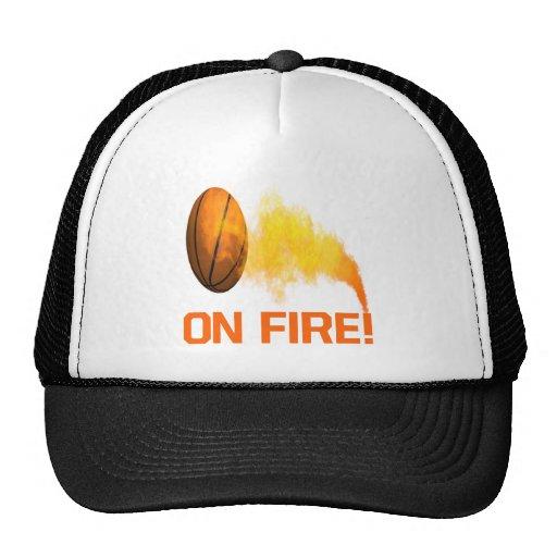 En el fuego gorras de camionero