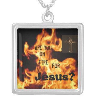 En el fuego para Jesús Colgante Cuadrado