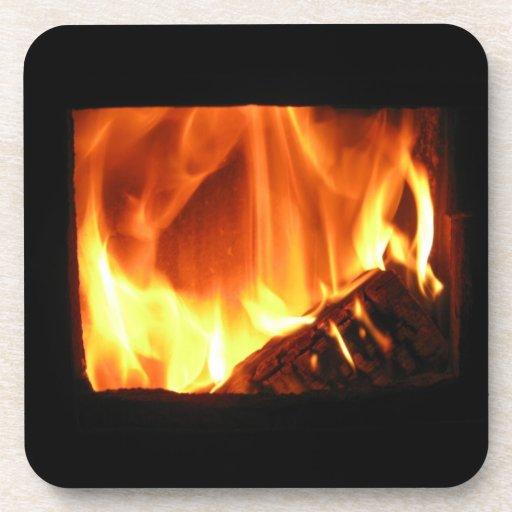 En el fuego posavasos