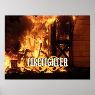 En el fuego póster