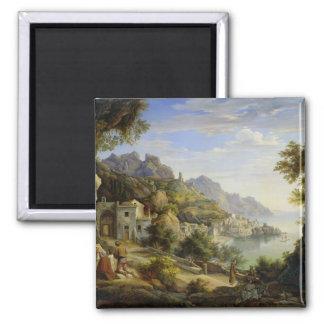 En el golfo de Salerno, 1826 Imán Cuadrado