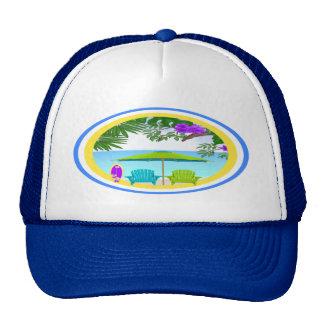 En el gorra de la playa