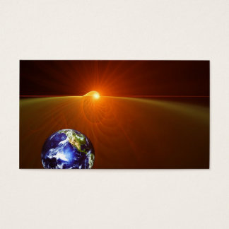 En el horizonte de la tierra - tarjeta de negocios