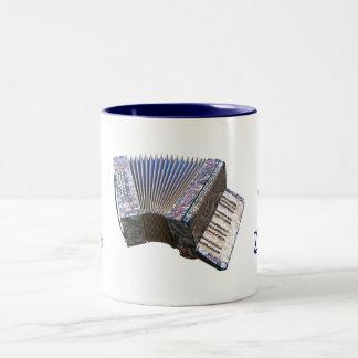 EN el HUMOR, PARA la taza de cerámica del acordeón